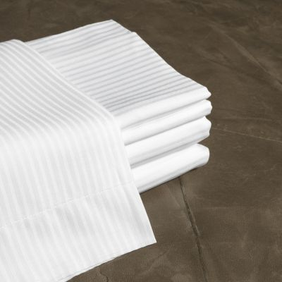 6 Set Lenzuola Singole in Raso Righino + Federe - Frette