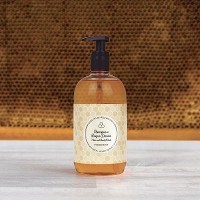 Dispenser shampoo e bagno doccia 500 ml Honey Collection
